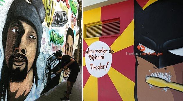 'Antalya'yı grafitiyle renklendirelim' çağrısı