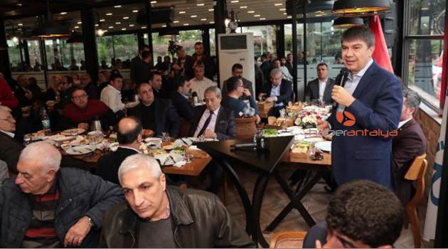Başkan Türel, iş insanlarına projelerini anlattı