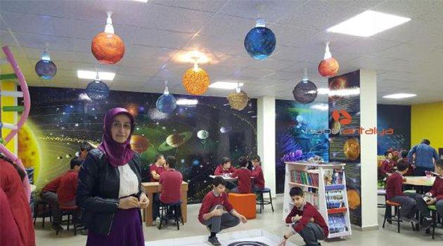 Bodrum katındaki atıl oda, bilim sınıfına dönüştürüldü