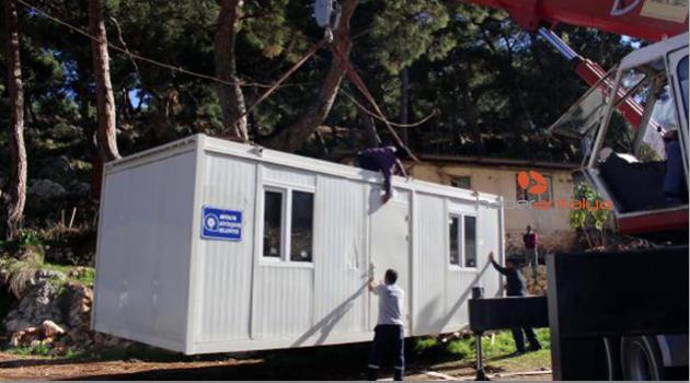 Büyükşehir'in konteyner ev yardımları