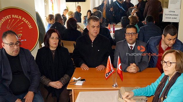 CHP il yönetimi Finike'de