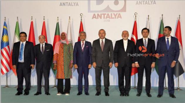 D-8 Dışişleri Bakanlar Konseyi Antalya'da