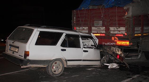 Gazipaşa'da kaza: 1 ölü