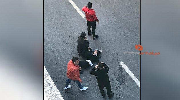 Köprülü kavşaktan yola düşen ortaokul öğrencisi yaralandı