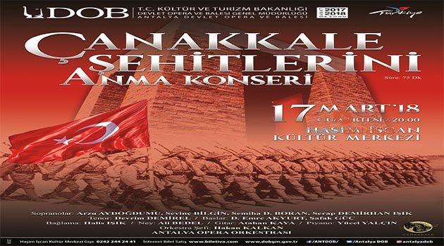 Antalya DOB'tan Çanakkale şehitlerini anma konseri