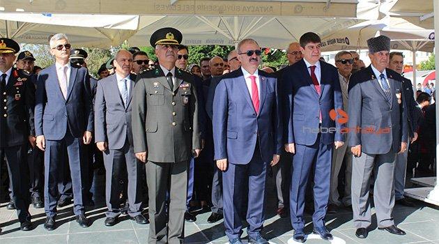 Antalya'da gaziler için tören