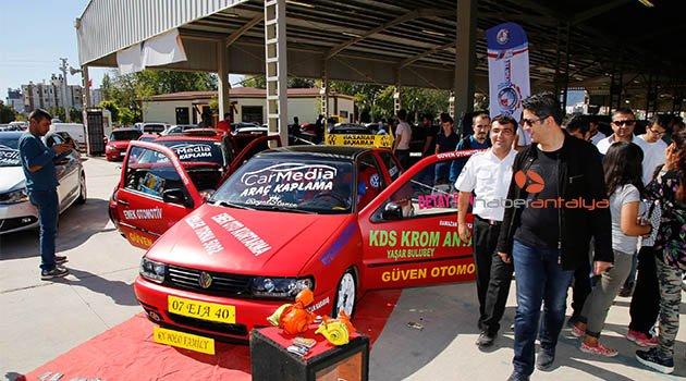 Antalya'da modifiyeli araç festivali
