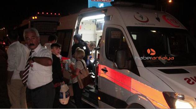 Antalya'da trafik kazası
