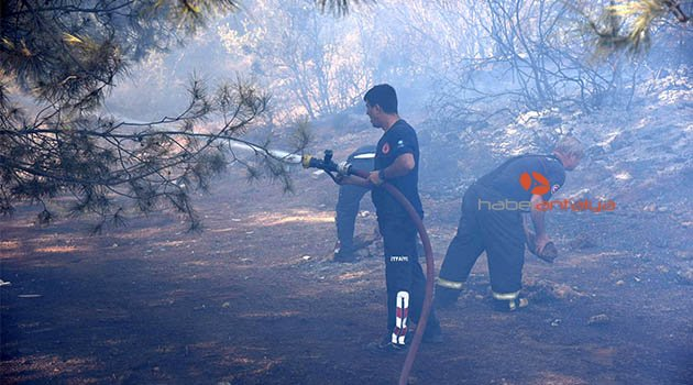 Antalya'da yangın: 5 hektarlık orman yandı