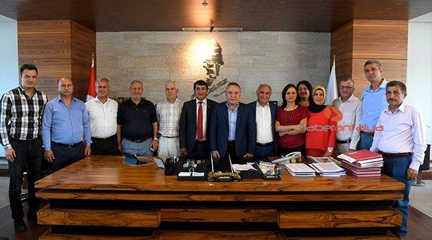 ANTSERDER BAŞKAN BÖCEK'İ ZİYARET ETTİ