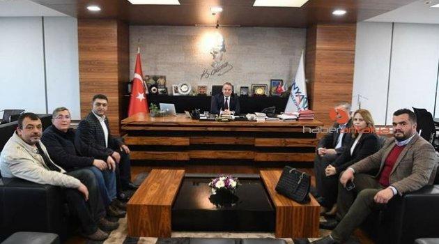 Başkan Böcek, CHP Korkuteli İlçe Örgütünü ağırladı