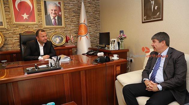 Başkan Türel'den AK Parti İl Başkanı Taş'a hayırlı olsun ziyareti