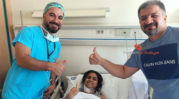İranlı Hania, 6 saatlik operasyonla felç olmaktan kurtuldu