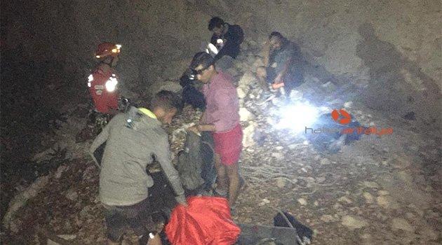 Kanyonda mahsur kalan 4 üniversiteli drone ile kurtarıldı