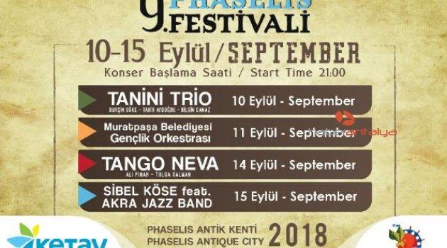 Phaselis Sanat Festivali başlıyor