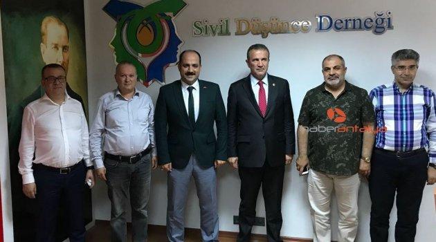 SDD'nin ilk misafiri MHP adayı Abdurrahman Başkan oldu