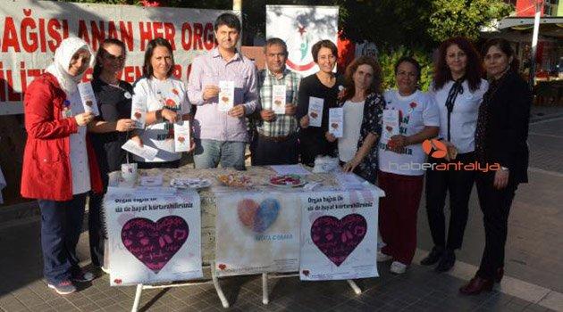 Serik'te organ bağış etkinliği