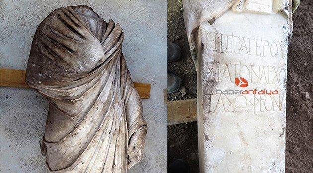 Side'de Roma dönemi meclis başkanının heykeli bulundu