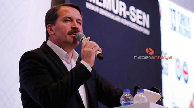 Memur-Sen Başkanı Yalçın'dan 'en az 2 bin lira' asgari ücret çağrısı