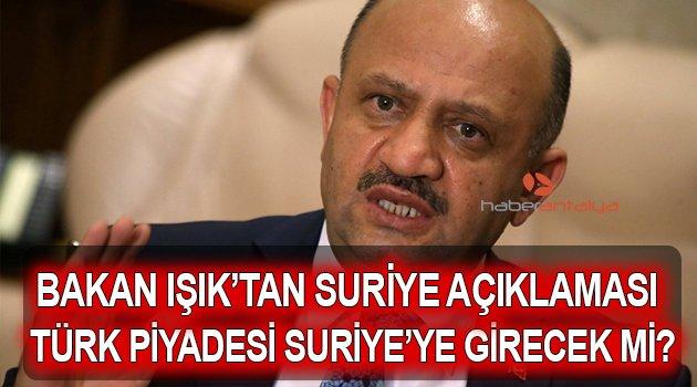 MİLLİ SAVUNMA BAKANI'NDAN SURİYE AÇIKLAMASI