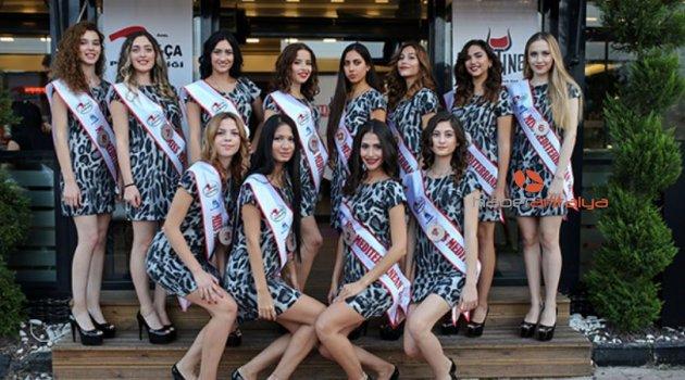 Miss Mediterranean güzelleri basın karşısında