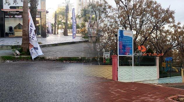 Muratpaşa Belediyesi  afişlerine saldırı