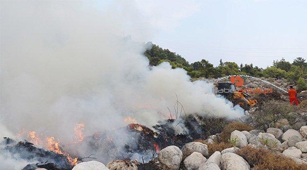Ormancılara yangında yağmur desteği