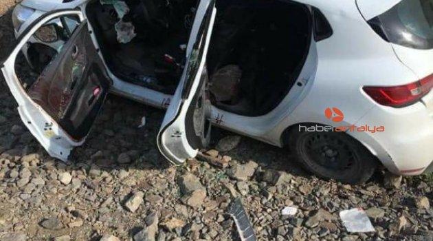 Otomobilinin üzerine kaya parçası düşen mümessil, hayata tutunamadı