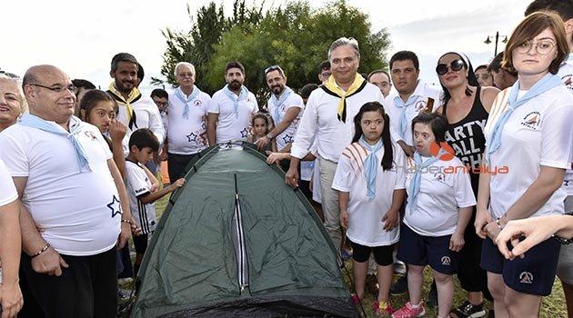 Özel çocuklar izci kampında