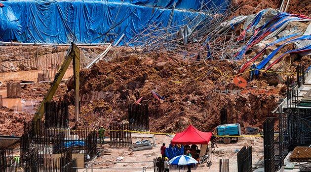 Şantiye alanında toprak kayması: 4 ölü, 10 kayıp