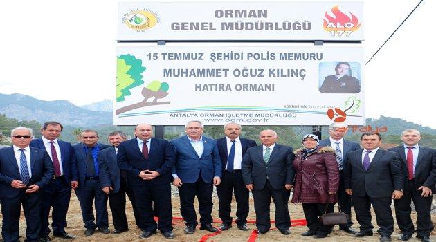ŞEHİT POLİS ADINA HATIRA ORMANI