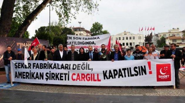 SP'den 'şeker' protestosu