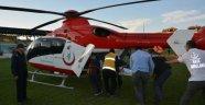 Ambulans helikopterle hastaneye sevk edildi