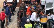 Bakan Kurtulmuş'un Mardin ziyaretinde çatıdan düşen polis şehit oldu