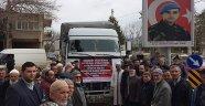 Afrin'deki askerlere meyve gönderdiler