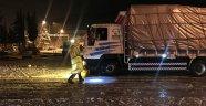 Akseki-Seydişehir karayolunda kar nedeniyle ulaşımda aksamalar meydana geldi