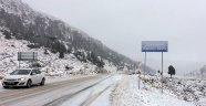 Alacabel'de kar yağışı