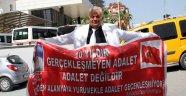 Alanya'da 10 yıldır süren davaya pankartlı isyan