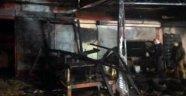 Alanya'da işyeri yangını