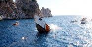Alanya'da Sahil Güvenlik gemisi batırıldı