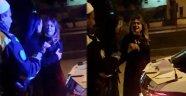 Alkollü kadın doktordan, polislere tehdit