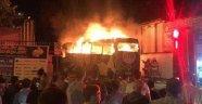 Altay takım otobüsünde yangın