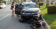Antalya'da trafik kazası: 1 yaralı.