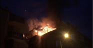 Apartmanda yangın paniği