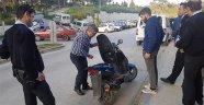 Çalınan motosikletini 10 ay sonra tesadüfen hastane bahçesinde buldu