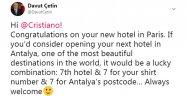 Cristiano Ronaldo'ya Antalya daveti