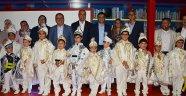 Fettah Tamince'nin oğluyla birlikte 50 çocuk sünnet oldu