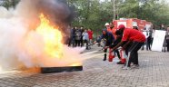 Öğrencilere yangın eğitimi
