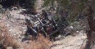 'Pat pat' uçuruma devrildi: 5 yaralı