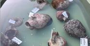 Su altı kurtarma kazısında çok sayıda eser çıkarıldı